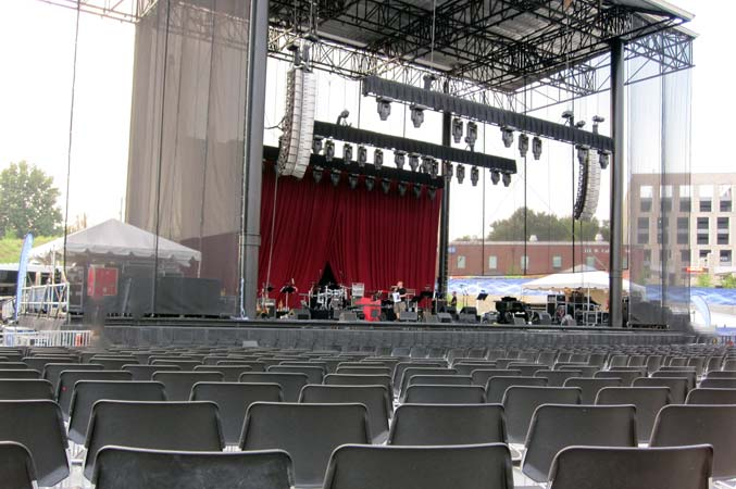 Seating red hat amphitheater