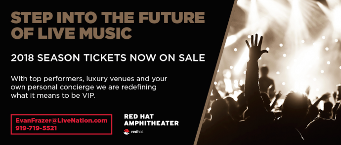Live Nation Raleigh VIP Seat Information